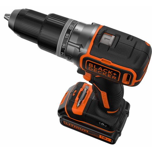 Taladro Percutor 18V de Black+Decker